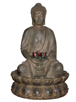 Buddha Table Fountain W LED Light   Large