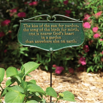 Kiss of the Sun Garden Sign on Sale - aGardenPlace.com